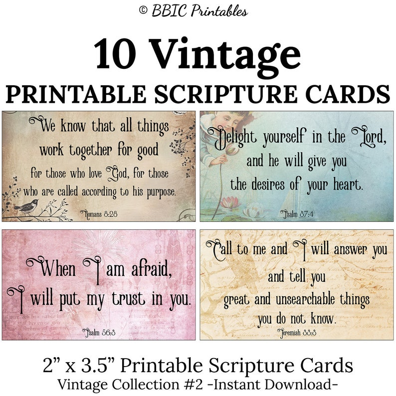 photograph relating to Printable Scripture identified as 10 Typical Printable Scripture Playing cards -C2- Fast Down load, Notable Properly Regarded Basic Bible Verse Card Printable Mini Artwork
