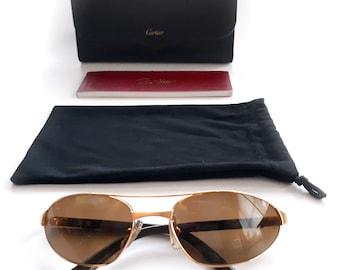 c9faa6b489eba Authentic Cartier Gold Polarized Sunglasses Santos de
