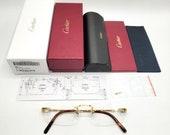 NEW Cartier Gold Bolon C-decor Eyeglasses Sunglasses CT0045O