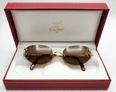 Autentic Cartier Gold C-Decor Sunglasses