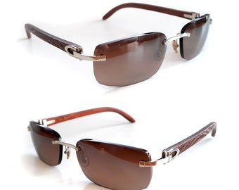 05b0ebf41f Cartier C-decor Sunglasses Bubinga Wood