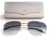 Authentic Cartier C-decor Platinum Sunglasses