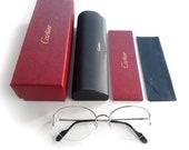 NEW Cartier C Décor Oval semi-rimmed Shape Glasses