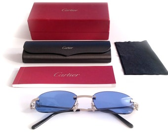 e003596347 NEW! Cartier Platinum C-Decor Rimless Sunglasses