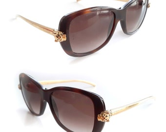 bc6a36e36 Auth Cartier Sunglasses Frames Panthere Wild