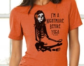 I 39 m a Nightmare Before Yoga Halloween Unisex T-shirt