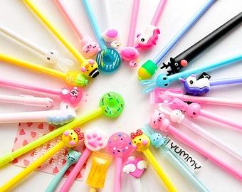 e60fedec96 10 pcs/pack Cartoon Gel Pens , Cute Pen ,student pens, Planner Accessories,  Writing Drawing Carrots Gift School Office Supplies