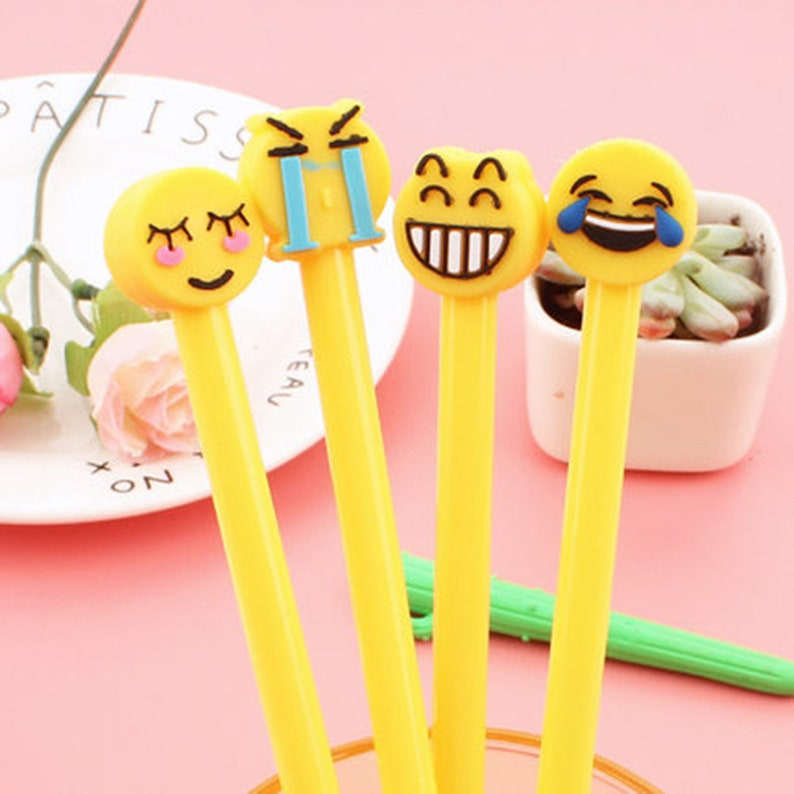 Planner Accessories Cute Pen student pens 4pc cartton Emoticon package  Gel Pens Writing Drawing Carrots Gift School Office Supplies