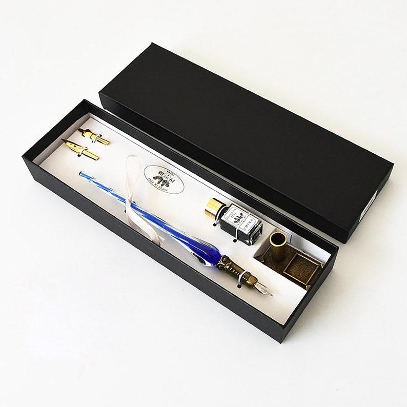 Dip pen Gift forTeens Retro  Sapphire Glass  Pen Pens,Planner Accessories Fountain Pen