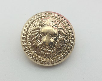 10 PCS Metal Lion Buttons, Vintage Gold Sewing Buttons, Individual Round  Craft Buttons, 15mm-25mm buttons