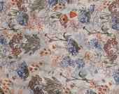 1 Yard Watermark Printed flowers fabric, Spring Summer Niche fabric,Printed Artistic Chiffon fabric, Dress Skirts shawl Scarf Brace fabric