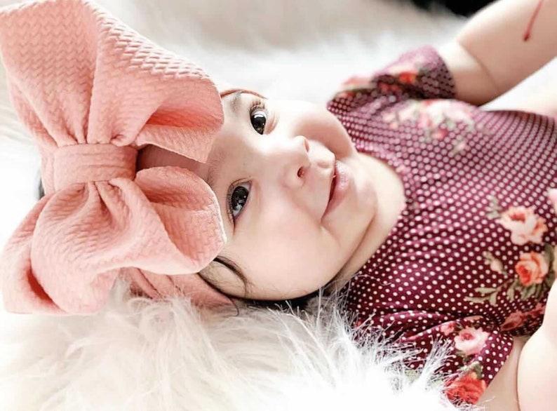 Cute Baby Girl Toddler Print Floral Cotton Big Bow Head Wrap Hair Band Headband