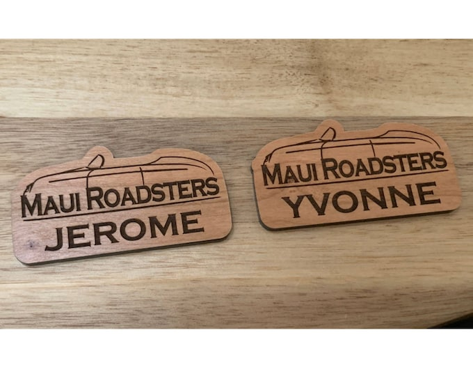 Custom Reorder: Maui Roadsters Name Tags