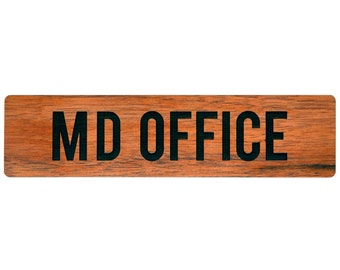 "12"" x 3"" Wood Office Door Sign Nameplate"