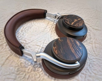 Real Wood Earcup Caps for Shure Aonic 50 Headphones, Wood Earcup Stickers, Aonic 50 Ear Cup Covers