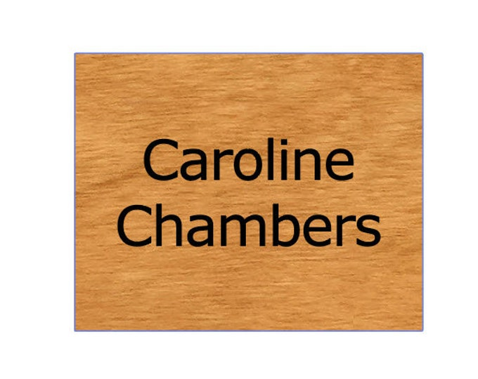 "Wood  Office Door Sign Nameplate,  5"" x 4"" Personalized Magnetic or Adhesive Wood Sign For Door, Wall, etc."