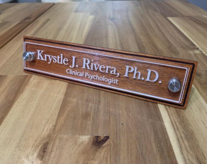 Executive Desktop Nameplate