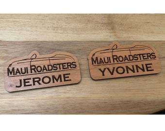 Custom Reorder: Maui Roadsters Name Tags