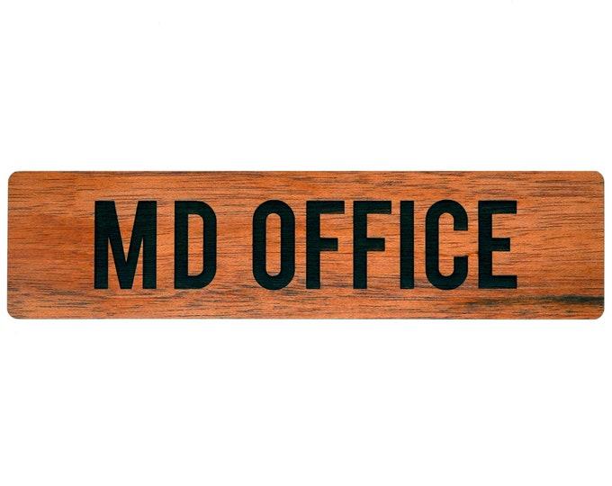 """12"""" x 3"""" Wood Office Door Sign Nameplate"""