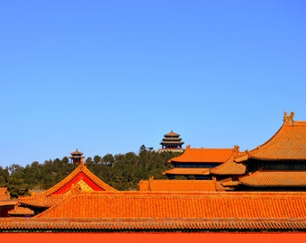 Forbidden City Rooftop Fine Arts Photography - Full Color - Available in 8x10 11x14 16x20 prints