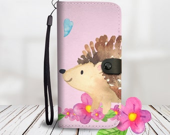 Whimsical Happy Hedgehog Phone Case/Wallet