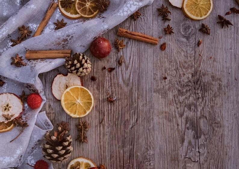 orange and pine apples Table set Cinnamon