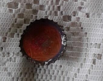 Bottle cap magnet