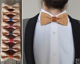 Natural cork bow tie for adults