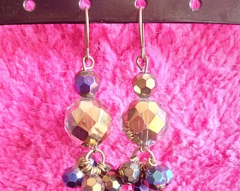 Boreal - Earrings - Crystal and glass