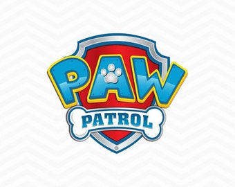 High Quality Paw Patrol Svg, Paw Patrol Logo, Clip Art In Digital Format Svg, EPS, DXF,  PNG. For Cameo Silhouette, Cricut, Cutting File