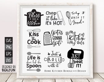 Kitchen Wall Svg Etsy