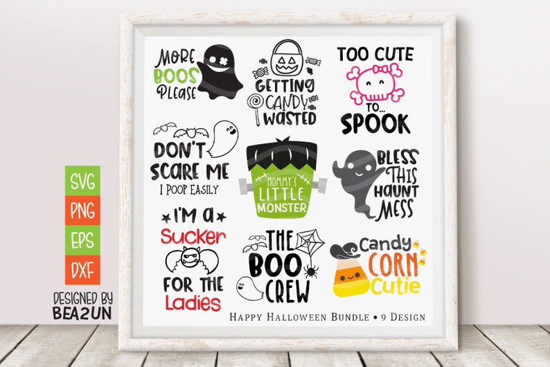 Fall Designs Svg Print Instant Download Design for Cricut or Silhouette Happy Halloween SVG Bundle Halloween SVG Candy Corn Cutie Svg