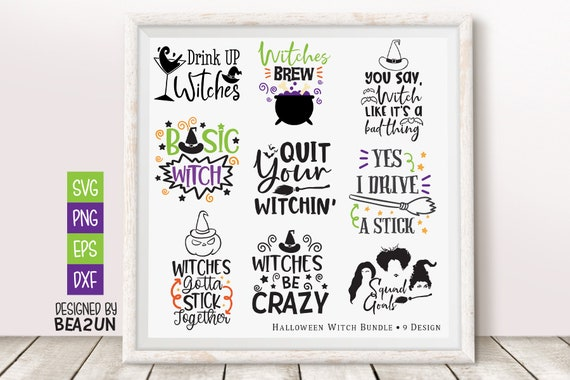 Halloween Witches Svg Bundle Happy Halloween Svg Hocus Pocus Etsy