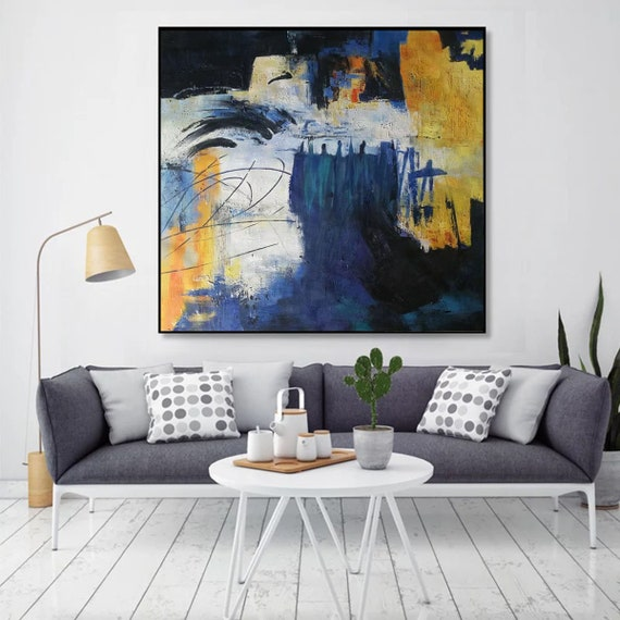 Large Paintings For Sale Large Canvas Art For Living Room Etsy