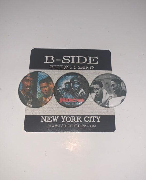 Tupac Shakur six 1 inch button pin back badges hip hop rapper 2Pac