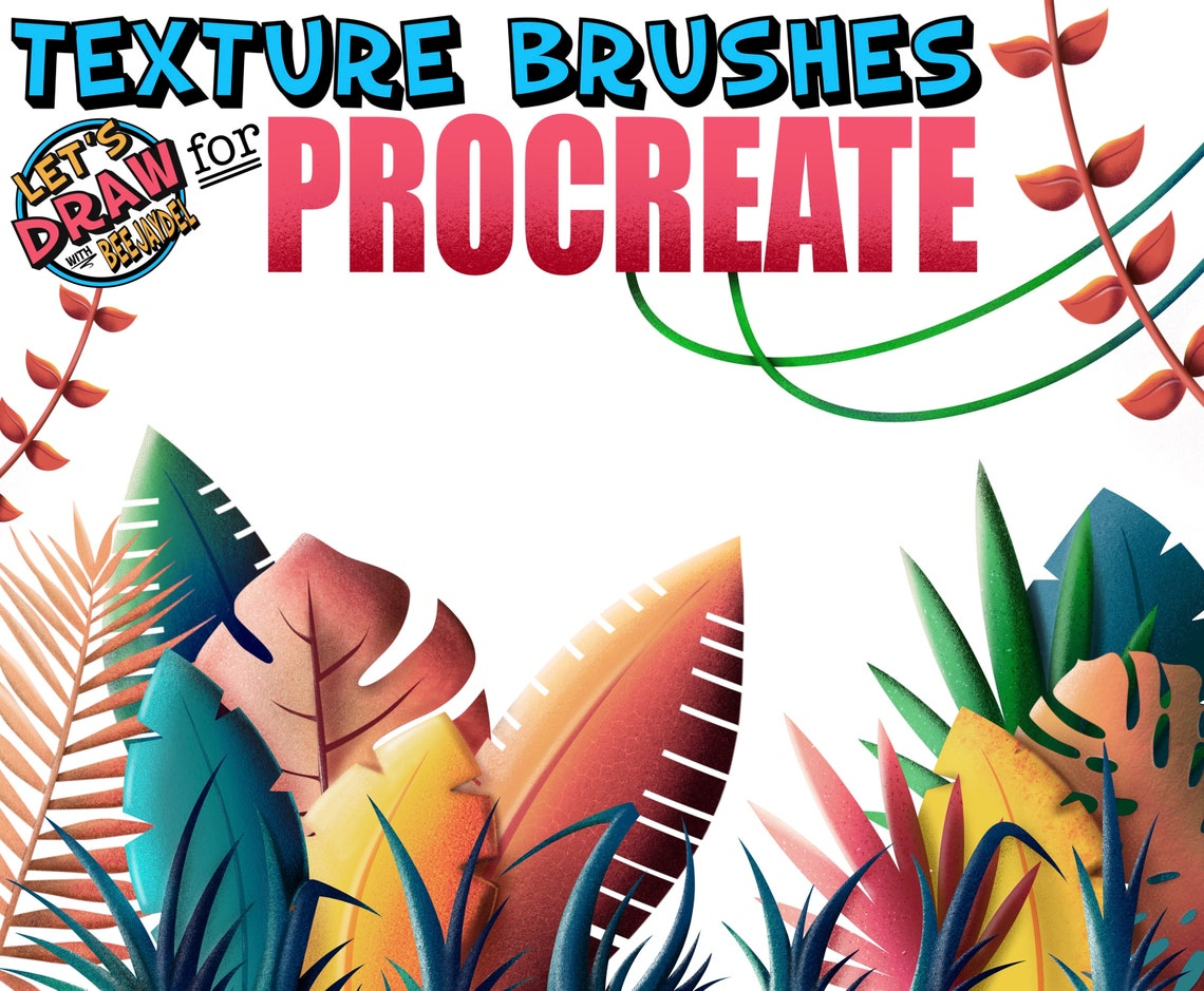 Texture Brushes for Procreate by BeeJayDeL image 0