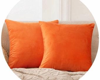 Orange Pillow Cover, Orange Decorative