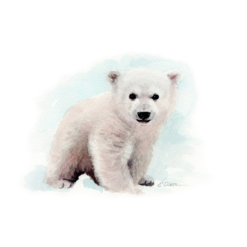 photograph relating to Polar Bear Printable identify Watercolor Youngster Polar Undergo, PRINTABLE Nursery decor, Little one animal prints, Arctic animal prints, Nursery artwork, Polar Pets, Little one endure cub artwork