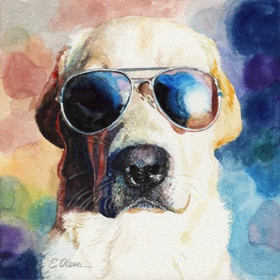 watercolor nursery painting ORIGINAL Watercolor Black Labrador Retriever Puppy painting Lab Puppy art painting dog art Dog lovers gift