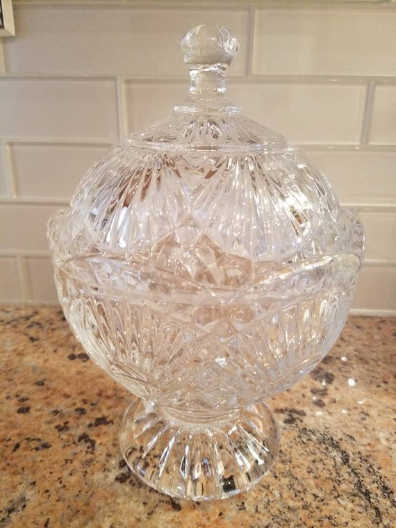 Vintage Designs Of Ireland Shannon Crystal Covered Candy Dish Etsy
