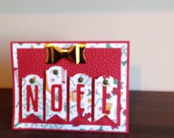 Noel Christmas Card Etsy
