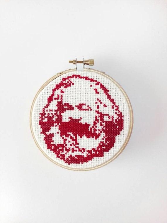Karl Marx Portrait Cross Stitch Pattern Pdf Etsy