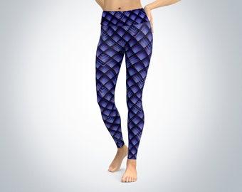 Geometric scales leggings