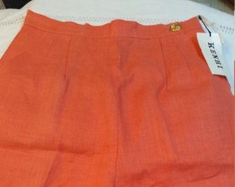 Coral Vintage Women's Linen Bermuda Shorts Size 10