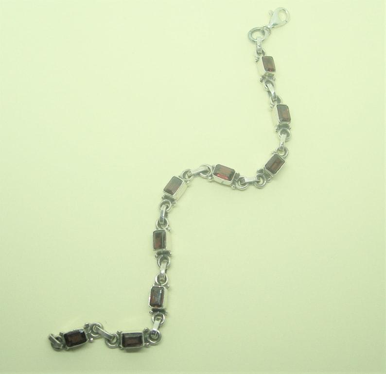 Sterling silver and carnelian bracelet
