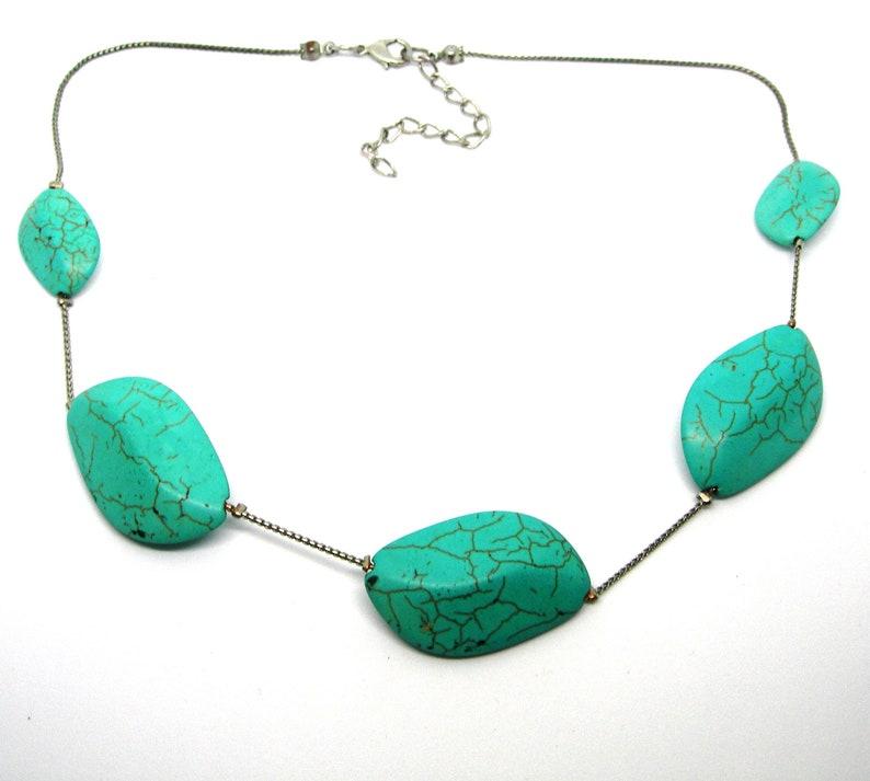 necklace Turquoise vintage,blue,adjustable
