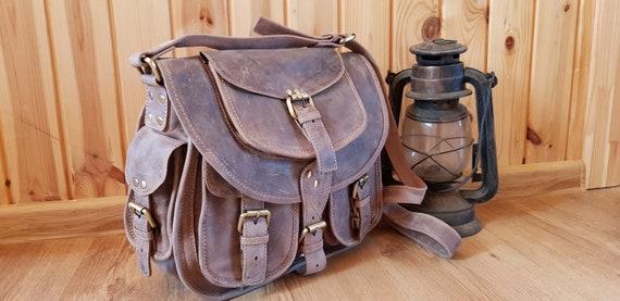 MarroneA ManoSpallaIndiana Leather Handmade Jones Pelle TracollaFatta borsa PurseBorsa Donna In TZXuwOiPk