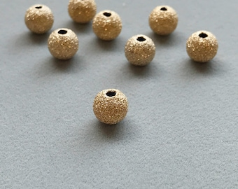 Gold Filled Stardust Bead Individual bead is 1.75