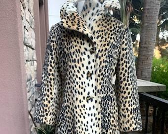 Vintage 50's Faux Leopard Coat