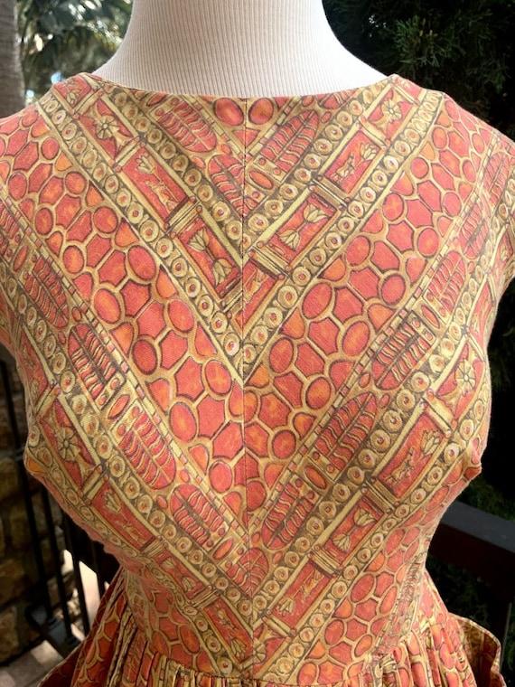 Vintage 1950's Novelty Print Dress - image 5